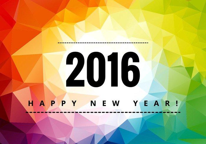 year wishes rainbow polygonal rainbow new yaer polygonal new year polygonal background party new happy new year background happy new year happy Eve decoration colorful celebration card 2016