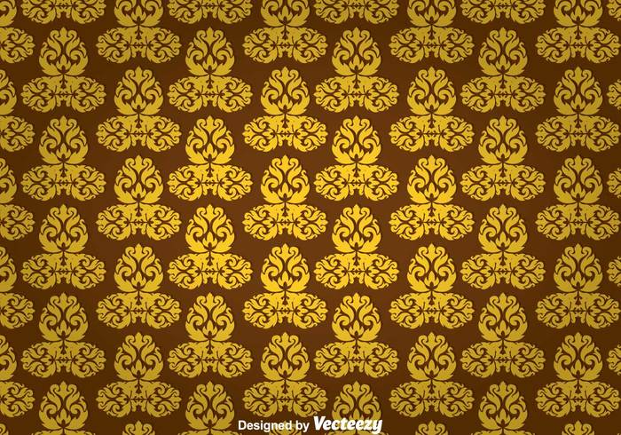 wallpaper wall tapestry pattern wall tapestry wall vintage texture tapestry symmetric shape repeat ornament line gold geometric floral decoration brown background