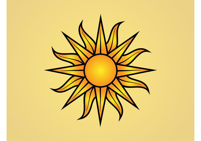 weather triangles sun summer sky rays nature logo icon climate circle