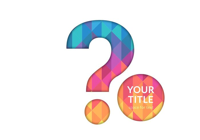 Free Question Mark Cutout Vector Background 114333