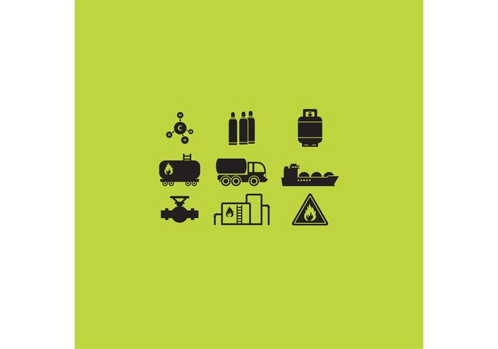 truck transportation tanker tank symbol storage resource production pressure power platform pipe pictogram molecule isolated industry icon gas truck gas cylinder gas fuel flame exploration energy economy drilling cylinder container Chemical