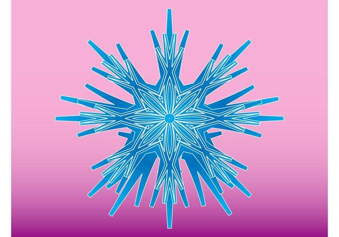 weather sticker snowflake Snow graphics snow seasonal logo ice frozen frost decorative decoration cold christmas