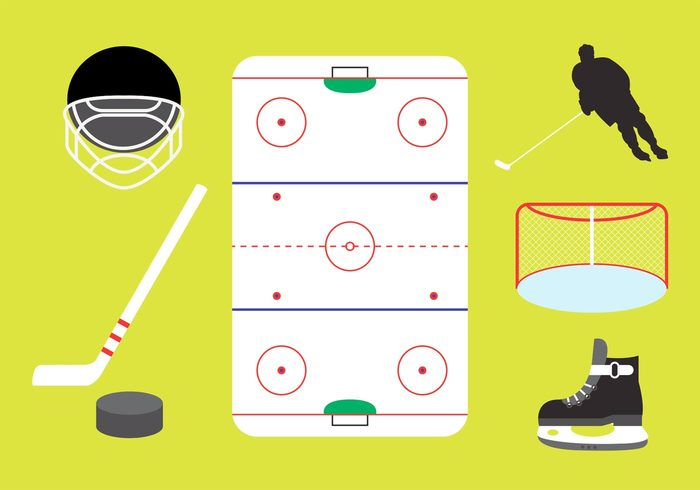 stick sport skate silhouette rink puck player play ice hockey rink ice hockey ice hockey helmet gate game equipment cold arena