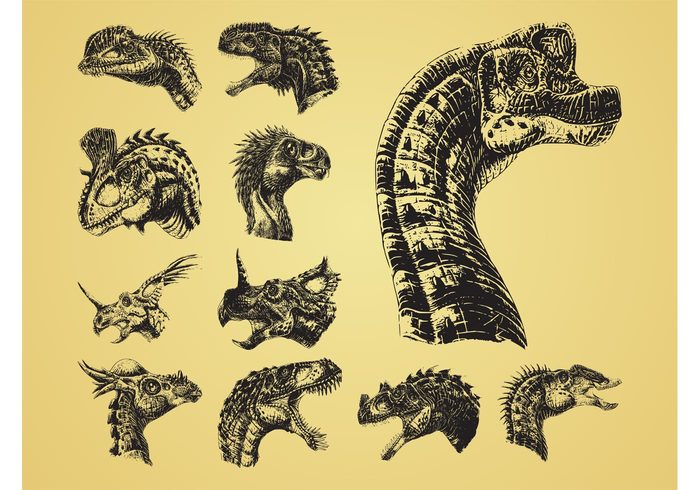 teeth science scary scales Reptiles prehistoric Paleontology horns heads Extinct Dinosaurs dinosaur detailed Beasts animals