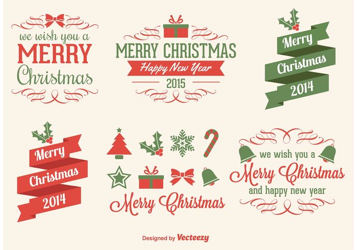 Christmas Vectors.Christmas Vector Elements 130087 Welovesolo