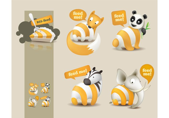 website web technology rss feed RSS promotion pie funny fun feed cake animals