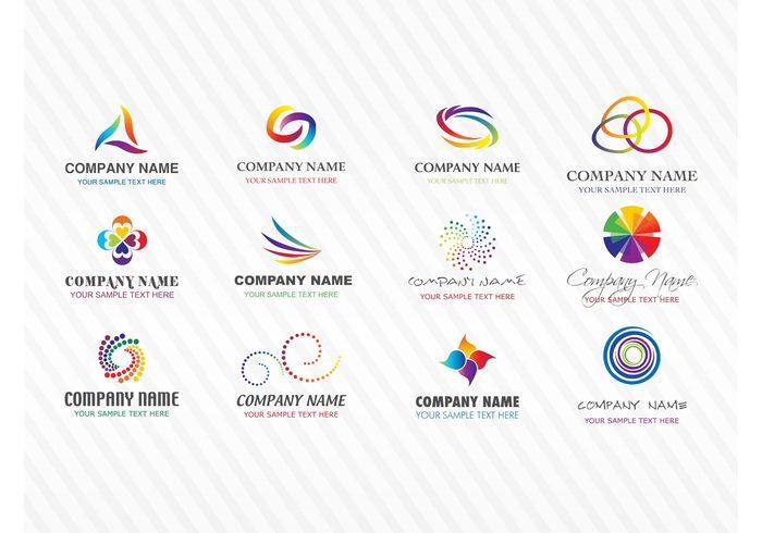 Visual identity symbols sign logos Logo download logo design icons free logos emblem colorful branding