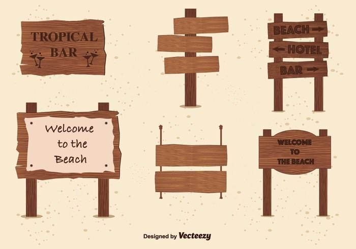 wooden billboards wooden vacation typographic tropical travel text sun summer sign sea palm tree location label holidays fun billboards billboard for beach beach background