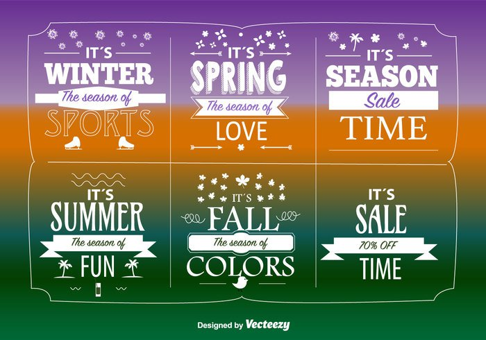 Seasonal big sales labels welovesolo - Autumn plowing time all set for winter ...