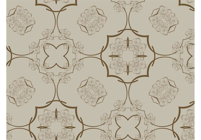 wallpaper vintage spring seamless pattern retro pattern nature flowers flower fabric pattern Clothing print brown background backdrop