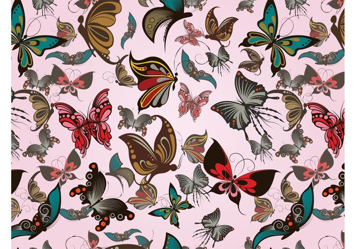 wings wallpaper spring seamless pattern nature insects fly fabric pattern Clothing print butterfly background antennas animals