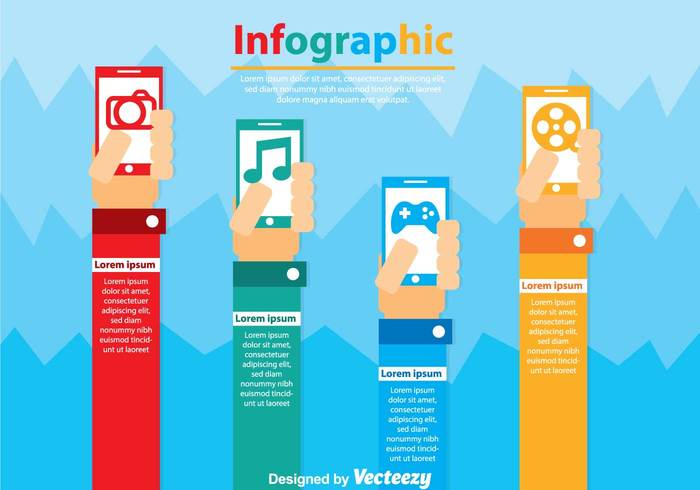 video text template sound smartphone raised hands presentation play photograph photo phone music movie Listening infographys infography wallpaper infography background infography infographics infographic Hand Raised hand game