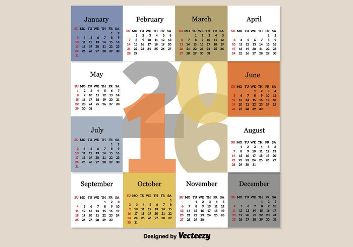 year week time template season schedule red planner plan organizer office number monthly month January graphic february event diary December day date daily color calender calendar business background August Annual 2016