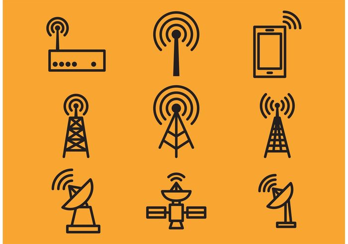 wireless lan wireless wi-fi web tv tower technology symbol silhouette signal sign router receiving radio wave radio show radio pictogram phone network Mobility mobile laptop isolated internet interface icon graphic global equipment electrical connection connect computer communication cell tower broadcasting black arrow antenna