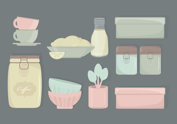 spoons spoon set salt and peper salt retro kitchenware plates peper pastel kitchenware Kitchen ware kitchen elements kitchen elements dishes collection box