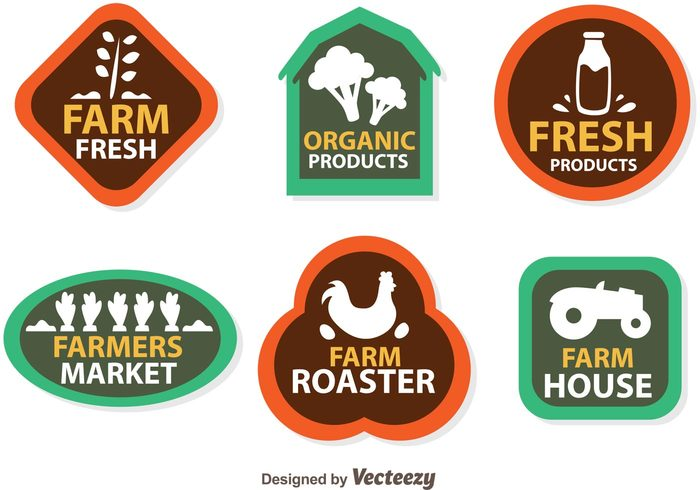 wheat vegetable tractor roaster organic milk label house harvest fruit fresh food fresh farming farmers market farmer farm logo broccoli isolated broccoli agriculture