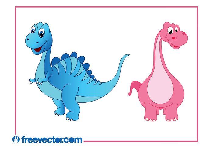 Smile Paleontology nature mascots happy Extinct Dinosaurs comic characters cartoon animals