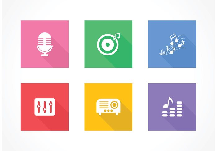 volume vector tech symbol sound silhouette sign set radio show pictogram music mixer microphone media isolated illustration icon headphones graphic flat icon equipment equalizer element electric design collection audio