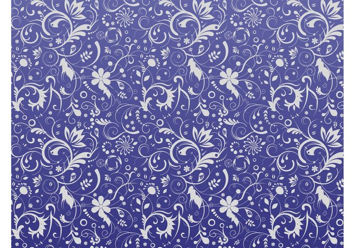 waving wallpaper swirls Stems spring seamless pattern plants petals nature leaves flowers floral Clothing print background