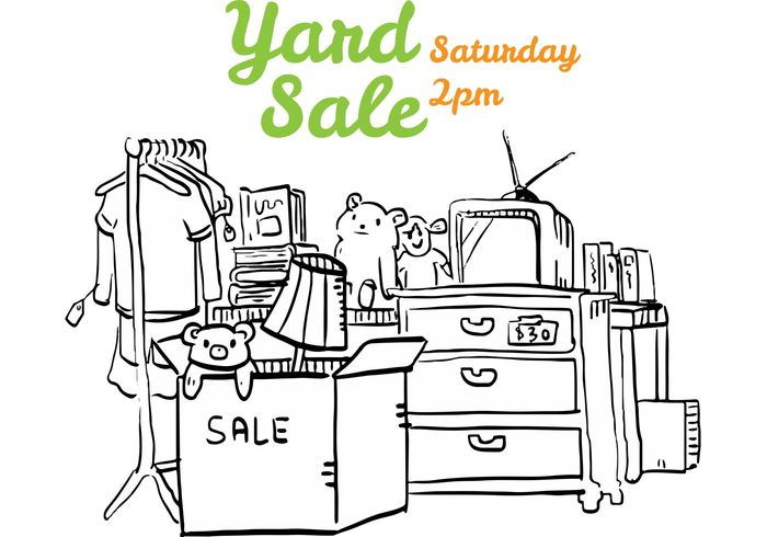 yard sales yard sale sign yard sale background yard sale yard selling sale reuse recycle neighborhood hand drawn yard sale garage sale flyer drawing discount clipart black and white bargain