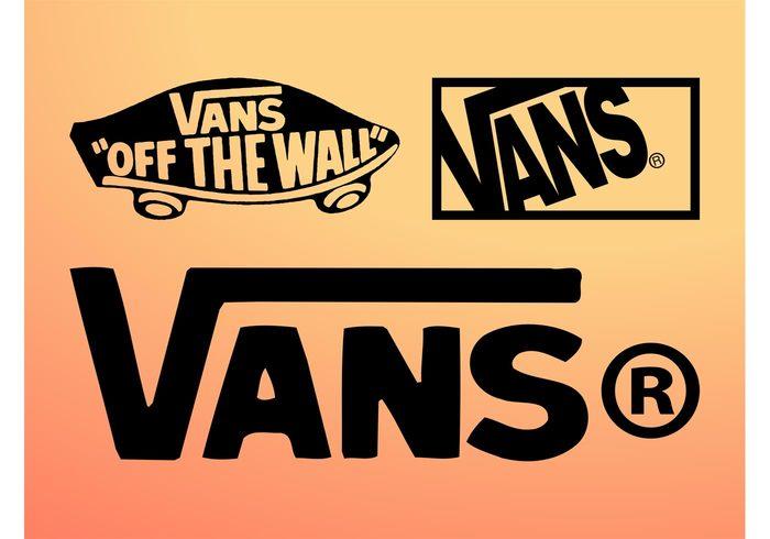 vans text Skating shoes skateboard Off the wall logotypes logos icons Company brand