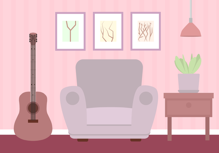 room planter plant pink painting musical Living room leather lamp interior design interior house home guitar girly furniture flat desk design decoration decor cozy chair art armchair apartment