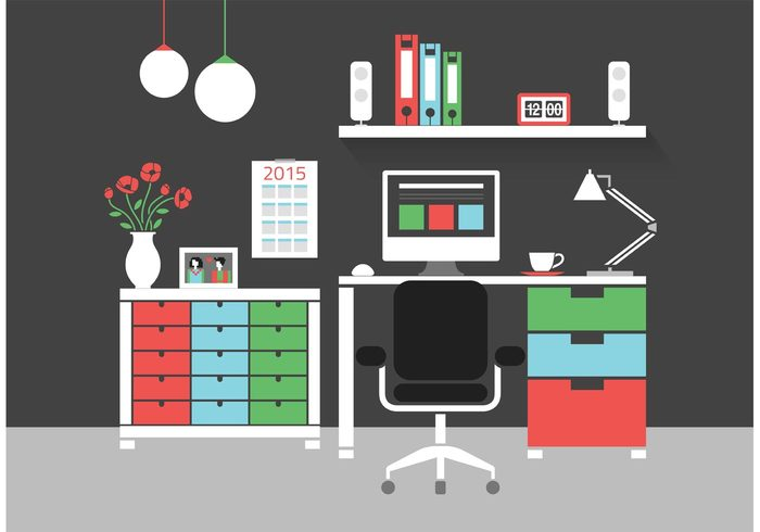 workspace workplace Workflow work web vector vase usability trendy technology table symbol stylish speaker space screen room poppies Place pc Organization office objects new modern chandelier modern lifestyle lamp interior interface icon home graphic flat elements dresser development desk designer design create concept computer clock calendar business binders background abstract