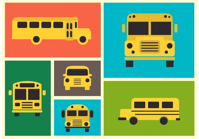 yellow wheel view vehicle vector truck trip travel transport symbol student stop sign schoolbus school bus school ride public object isolated illustration icon front education drive design color collection classic childhood child car bus background automobile auto