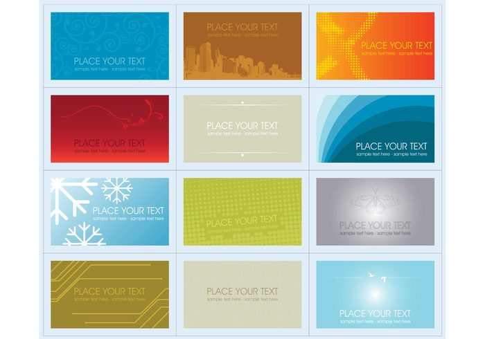 urban name card layout floral Copy-space concept collection clip art business cards buildings blank banner background
