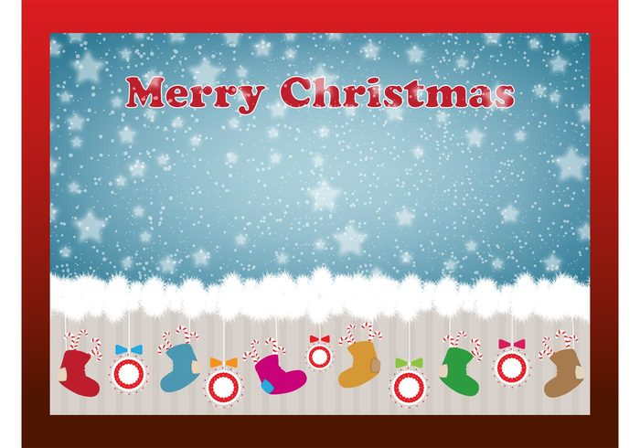 winter wallpaper template stars socks snow sky round Patterns Patches ornaments holidays greeting card festive colorful Candy canes balls background