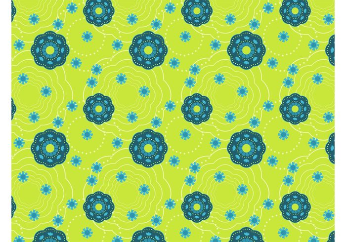 wallpaper spring seamless pattern round petals outlines nature flowers fabric pattern dots Clothing print background