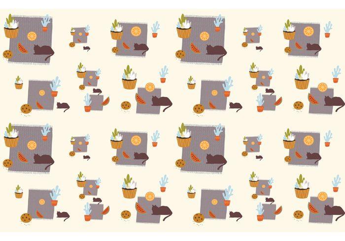 watermelon wallpaper rug plants background plants plant pots plant pattern pattern orange objects pattern interior Houseplant house flower plant cats cat pattern carpet roll carpet cactus Biscuit
