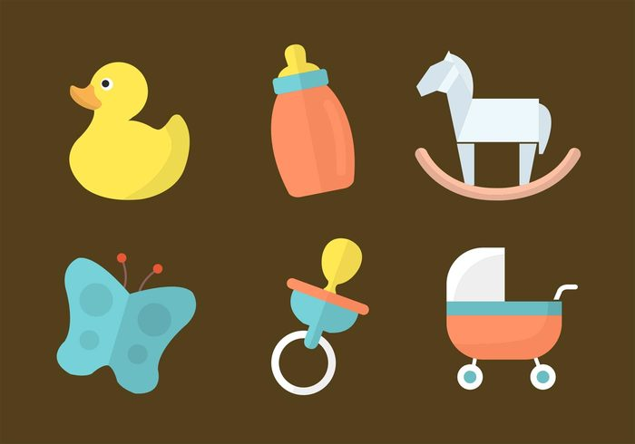 toys toy symbol silhouette sign rubber duck rubber rocking horse pacifier newborn isolated icon horse graphic ducks duck cute child butterfly bottle black background baby