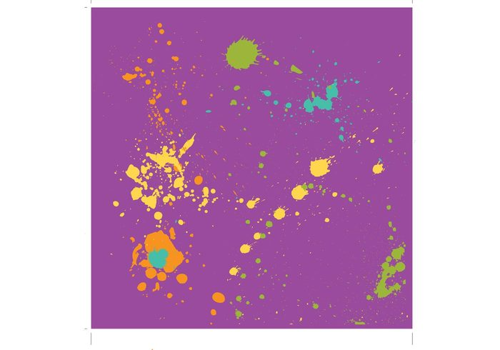 Vector effect Pollock painting paint ink Grunge effect Grunge design drop Drip painting drip colorful background design
