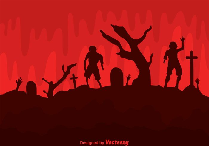 Zombies zombie wallpaper zombie silhouettes zombie silhouette zombie background zombie walking dead Tomb soil silhouette scary red horror hand Grave dead cross cemetery blood