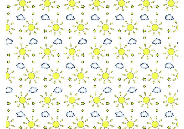 wallpaper suns sunny Sun vector stars sky seamless pattern rays nature dots clouds Cloud vector circles background