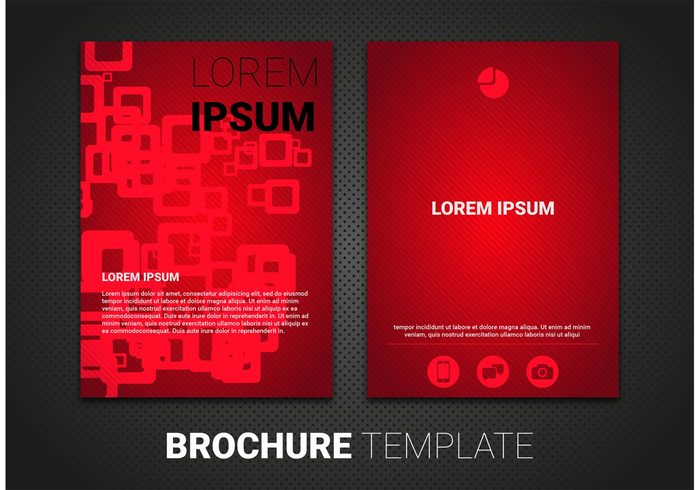 template vector template Single sheet red flyer red brochure red presentation media magazine layout magazine mag line flyer template flyer brochures brochure vector brochure template brochure blank background
