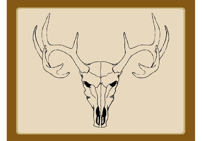 wildlife wilderness wild tattoo sketch scary nature hunting hunter horns head Etch deer death dead cool antlers animal