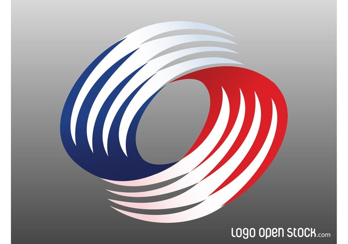 Waving lines waves versatile USA logo vector logo template logo curves curved colors button abstract