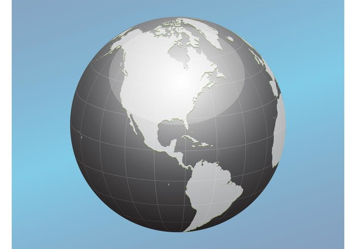 world water USA sphere round planet mexico logo land islands global geography earth continents Coasts Brazil ball america 3d
