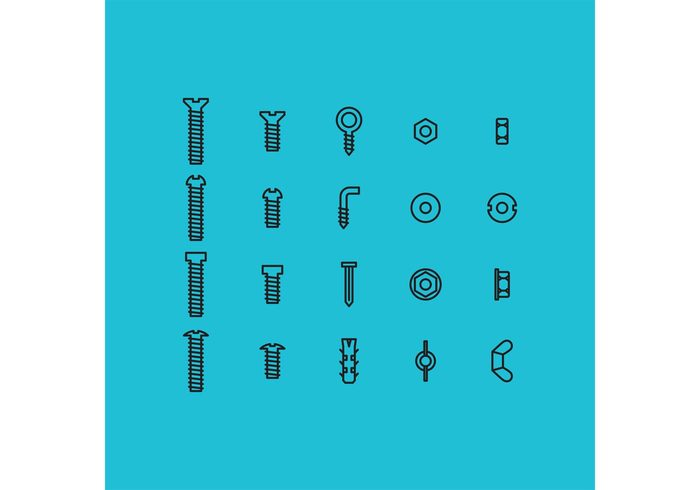 workshop work shop tool symbol steel set screw...... repair pictogram Part nuts and bolts nut nail icon hardware hard ware equipment Engineering construction bolt