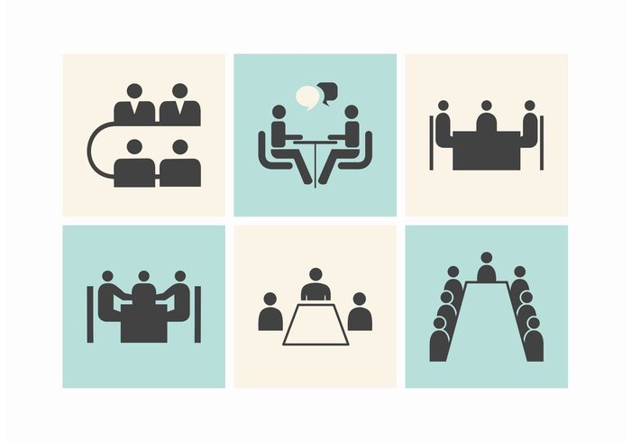 workplace work vector teamwork team teacher talk table symbol Speaking silhouette setting set Seminar round table meeting round presentation pictogram people meeting man lecture Interview interaction illustration icon group graphic event discuss corporate conference collection businessman business black