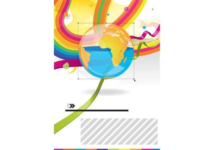 world wallpaper vector art universe swirls rainbow poster peace ornaments map love illustrator illustration graphics globe flyer Europe colors background america africa