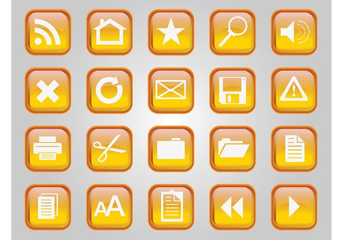 zoom x web technology star send RSS Return message magnifying glass logo home glass Functions feed data cross communication button blog badge