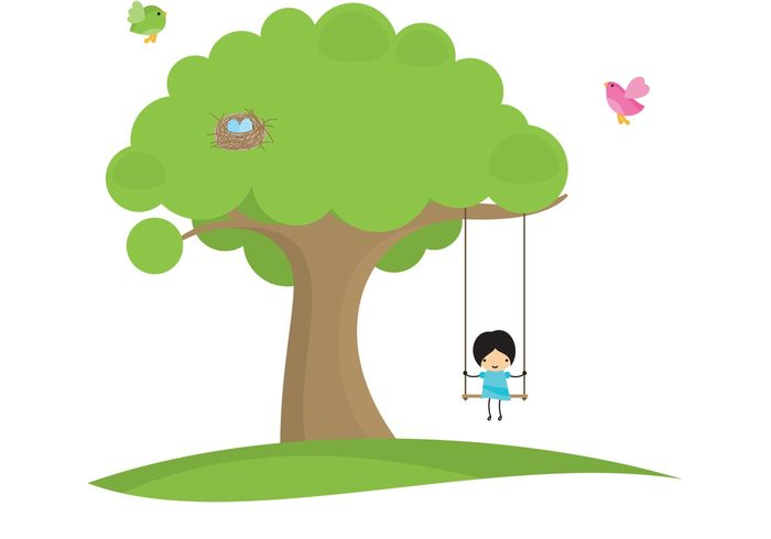 young tree swinging swing summer spring Smile sky play person park Outdoor nature landscape kids swinging kid joy happy green grass girl swinging girl fun day cute childhood child cheerful cartoon activity