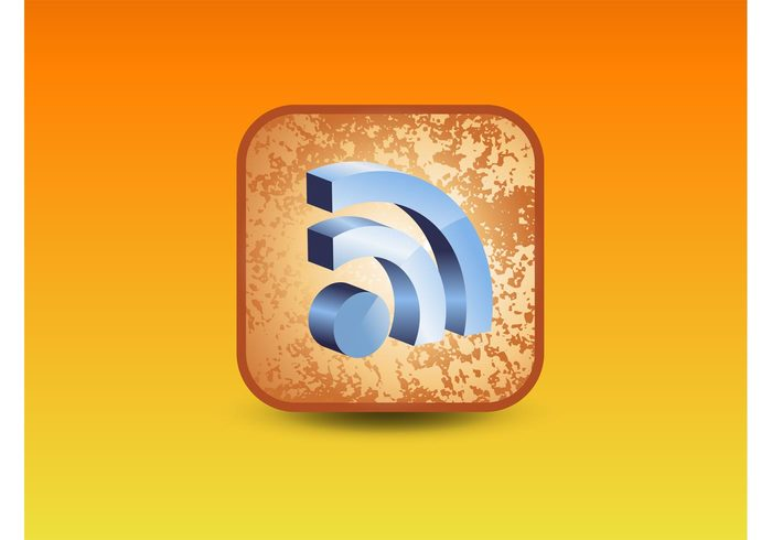 web technology symbols sign rss feed RSS News feed logos Link internet interface icons feed download button blog