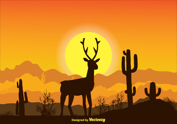 yellow water vacations travel tranquil sunset sunrise sky silhouette scene plants outdoors outdoor scene orange ocean nature scene nature mystical landscape mystical Marines Majestic Leading landscape Journey heat dusk desert deer dawn country cactus bright background
