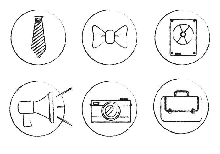 tie symbol sketchy icon mens tie megaphone mega phone icons Icon vector icon grungy icon grunge icon fashion camera briefcase bow tie