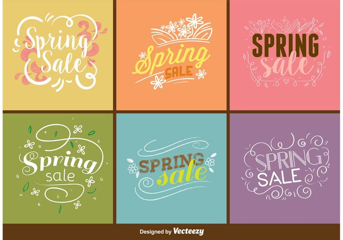 vintage typography typographic summer store spring sale spring background spring Signage sign season sale poster label happy decoration card banner advertising