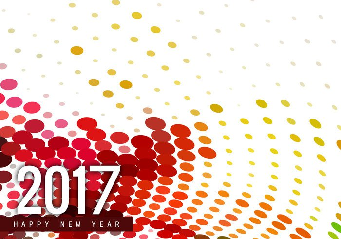year white wallpaper text pattern new dot design colorful circle card background backdrop 2017